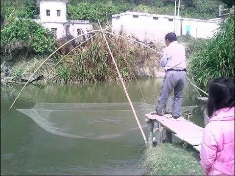 Рыбалка на Сазана подъёмником (Пауком) в Микро речке