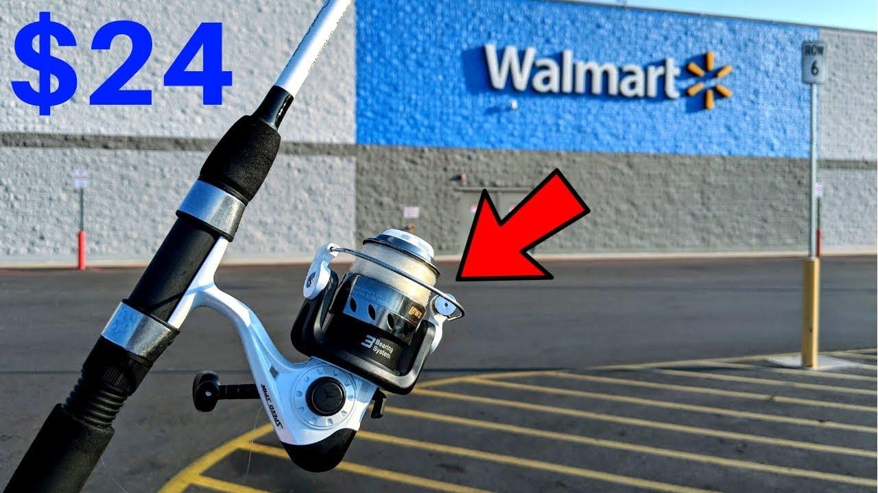 Fishing w/ CHEAPEST Rod/Reel Combo at WALMART (CHALLENGE)