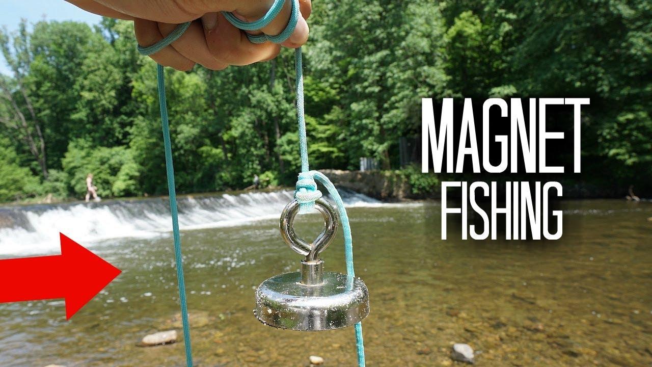 Magnet Fishing a Popular Fishing Hole!! (Treasure Hunting)