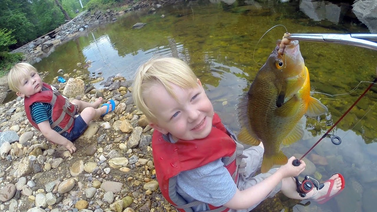 Tiny Creek Fishing ! Small creek fishing with bobber and worms  — Micro fishing for mummichog