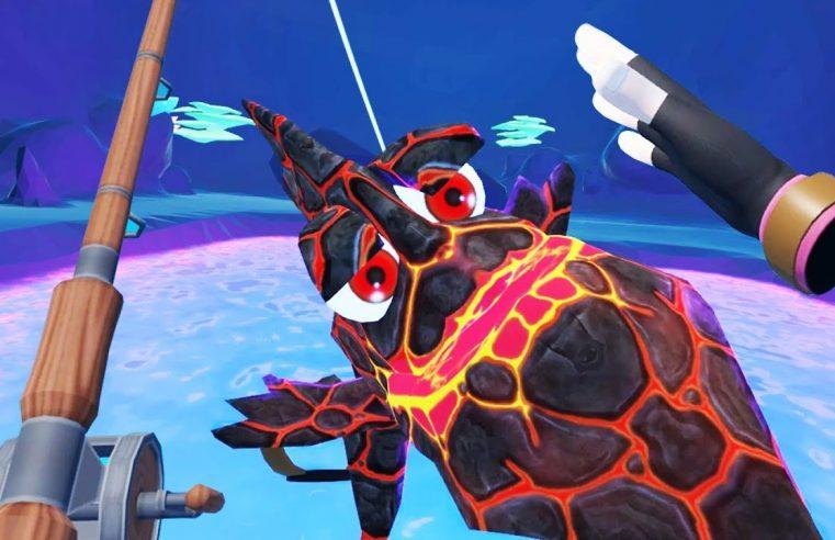 Massive Legendary Lava Fish! — Crazy Fishing Gameplay — VR HTC Vive Pro