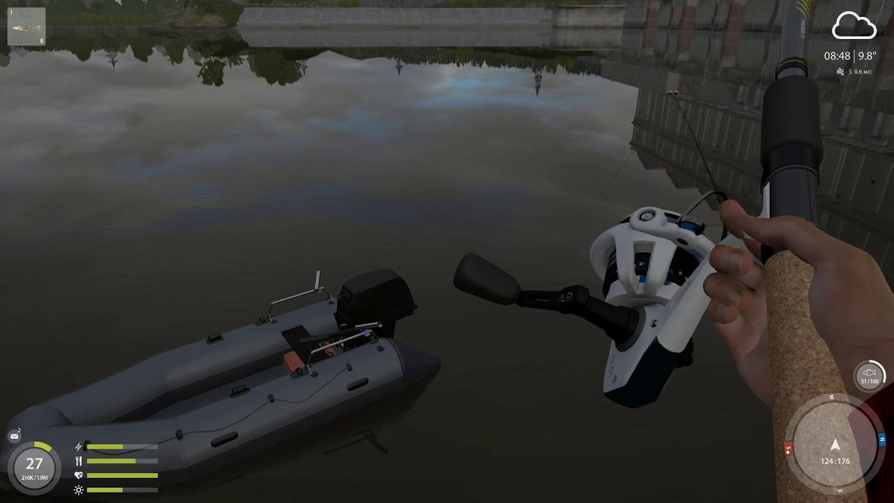 Русская рыбалка 4 — река Волхов — На живца у плотины