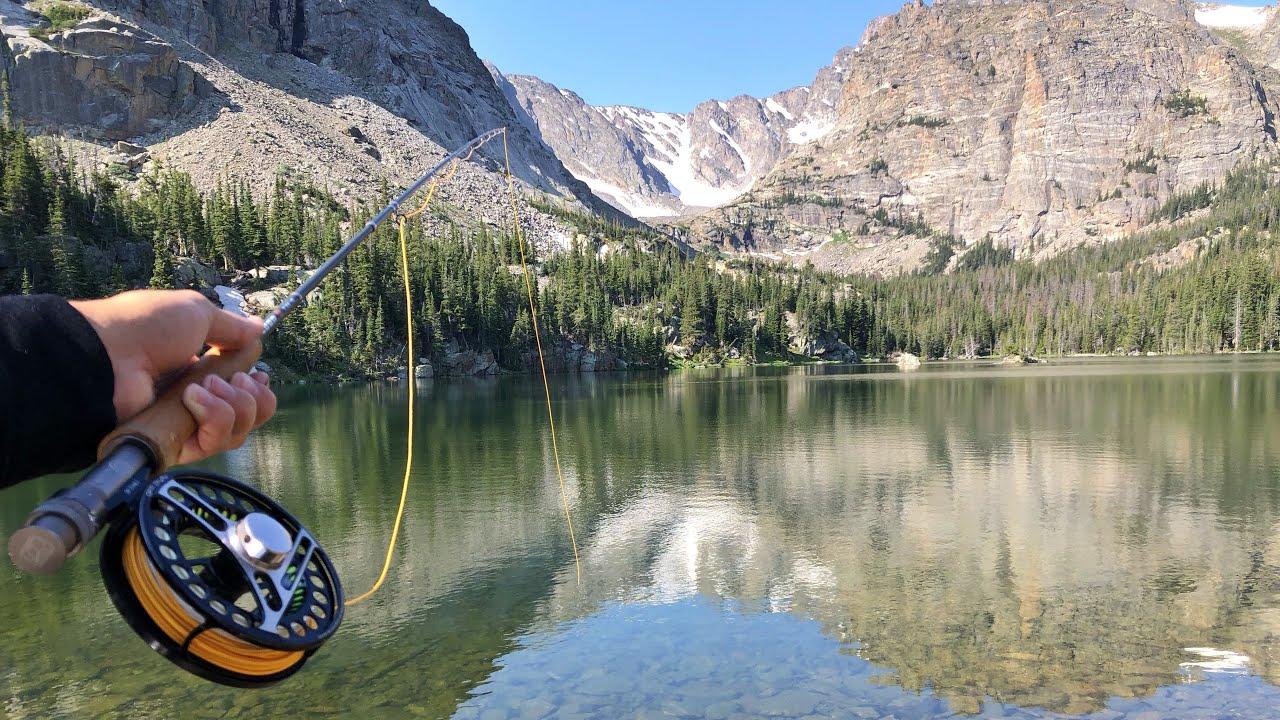 Fly Fishing a Remote Mountain Lake