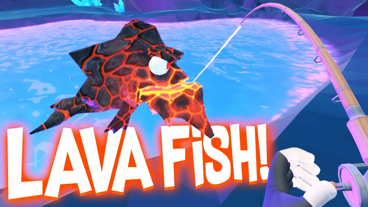 Catching Legendary Lava Fish in the Secret Underground Cave! — Crazy Fishing HTC Vive VR