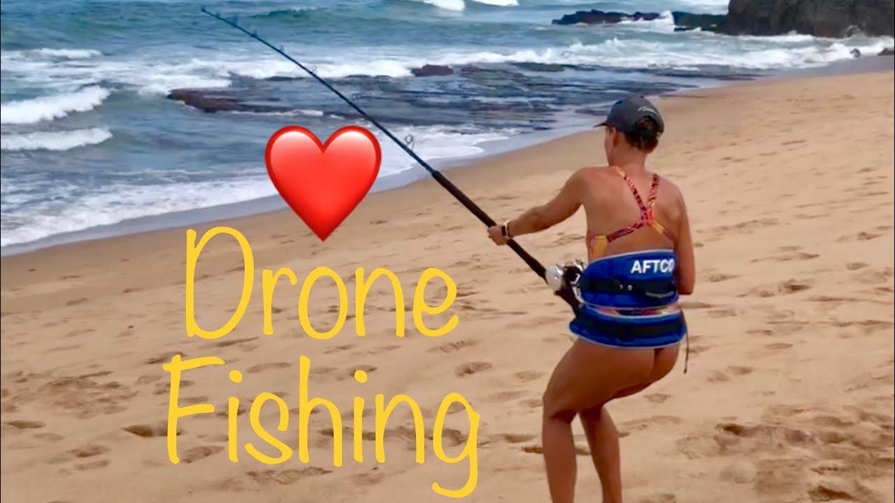 Gannet drone fishing with a DJI Phantom