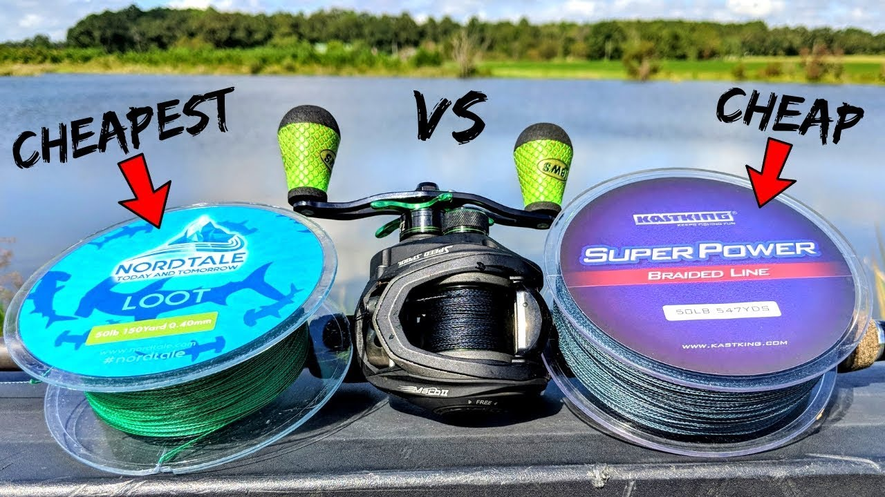 CHEAPEST Braided Fishing Line on Amazon?! (KastKing vs Nordtale)
