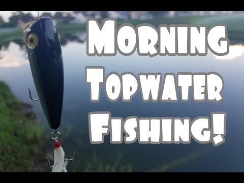 Early Morning TopWater Bass Fishing!