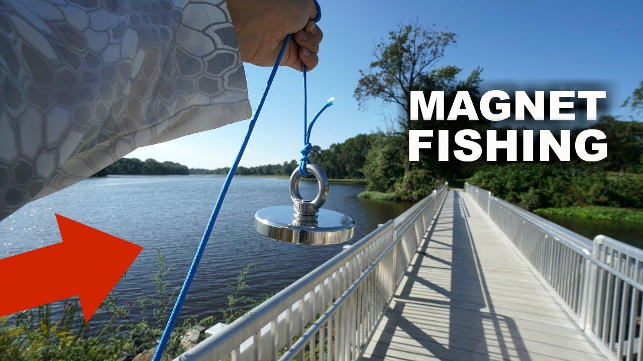 Magnet Fishing a Popular Fishing Spot!! (Treasure Hunting)
