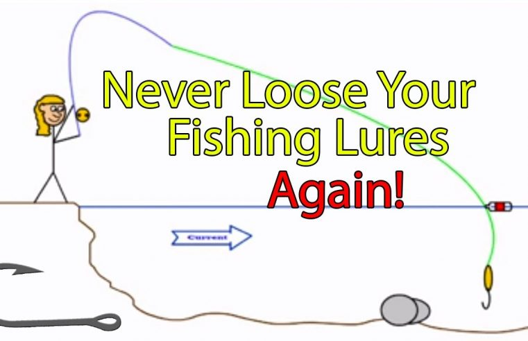 How to free a snagged fishing hook in a river (Genie in a bottle trick)