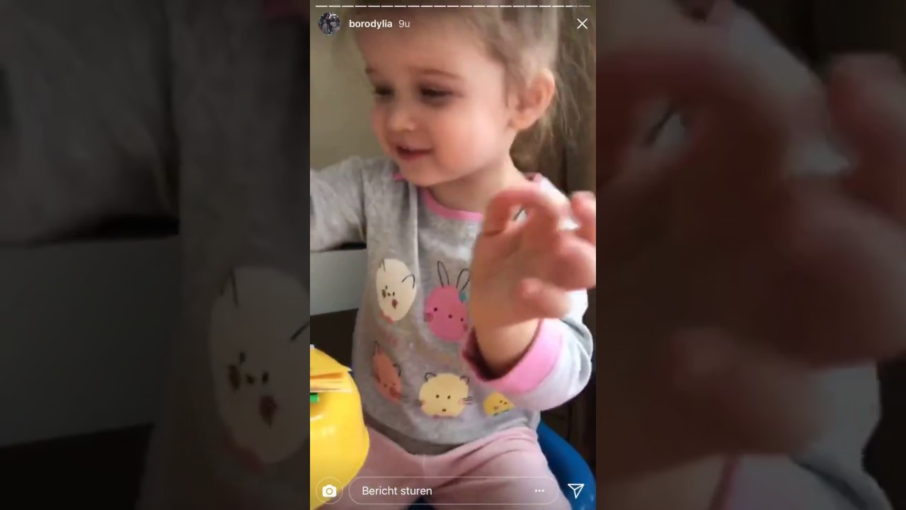 Ксюша Бородина занимается с дочкой Теей,  Instagram Stories 06-12-2017