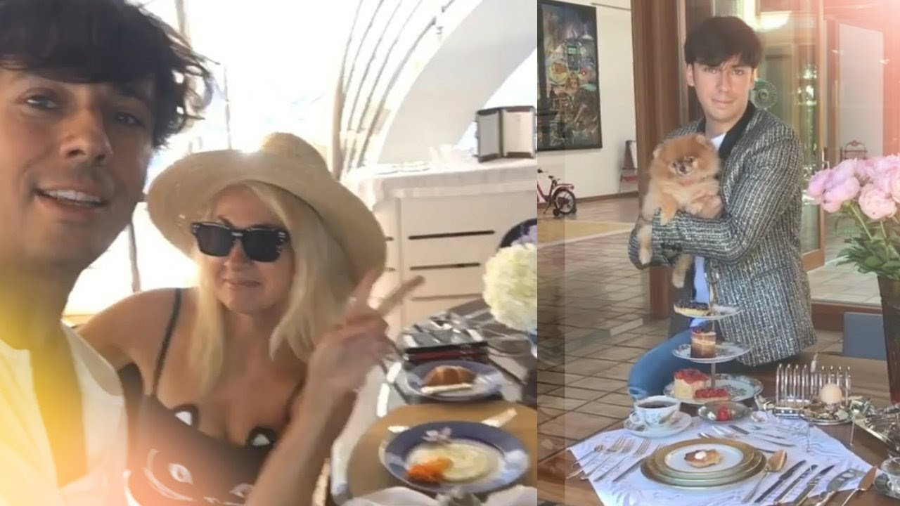 Галкин Максим и Рудковская Яна стебется за завтраком Instagram Live
