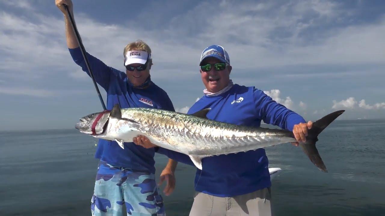 50lb Smoker Kingfish Fishing Off Cape Canaveral Florida — 4K