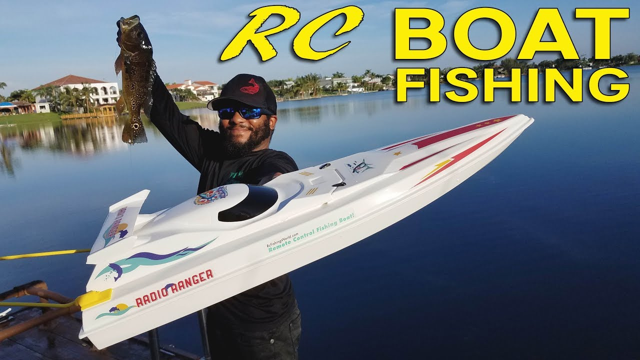 RC Boat Fishing for Big Bass!!!  Monster Mike