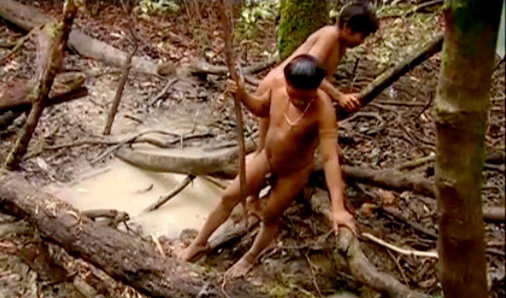 The Korubos fishing an eel