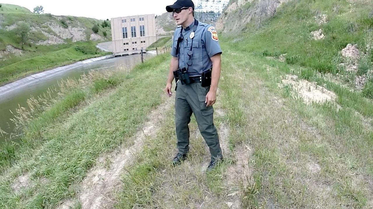 Cops Called while Fishing by Power Plant…he was PISSED!!!