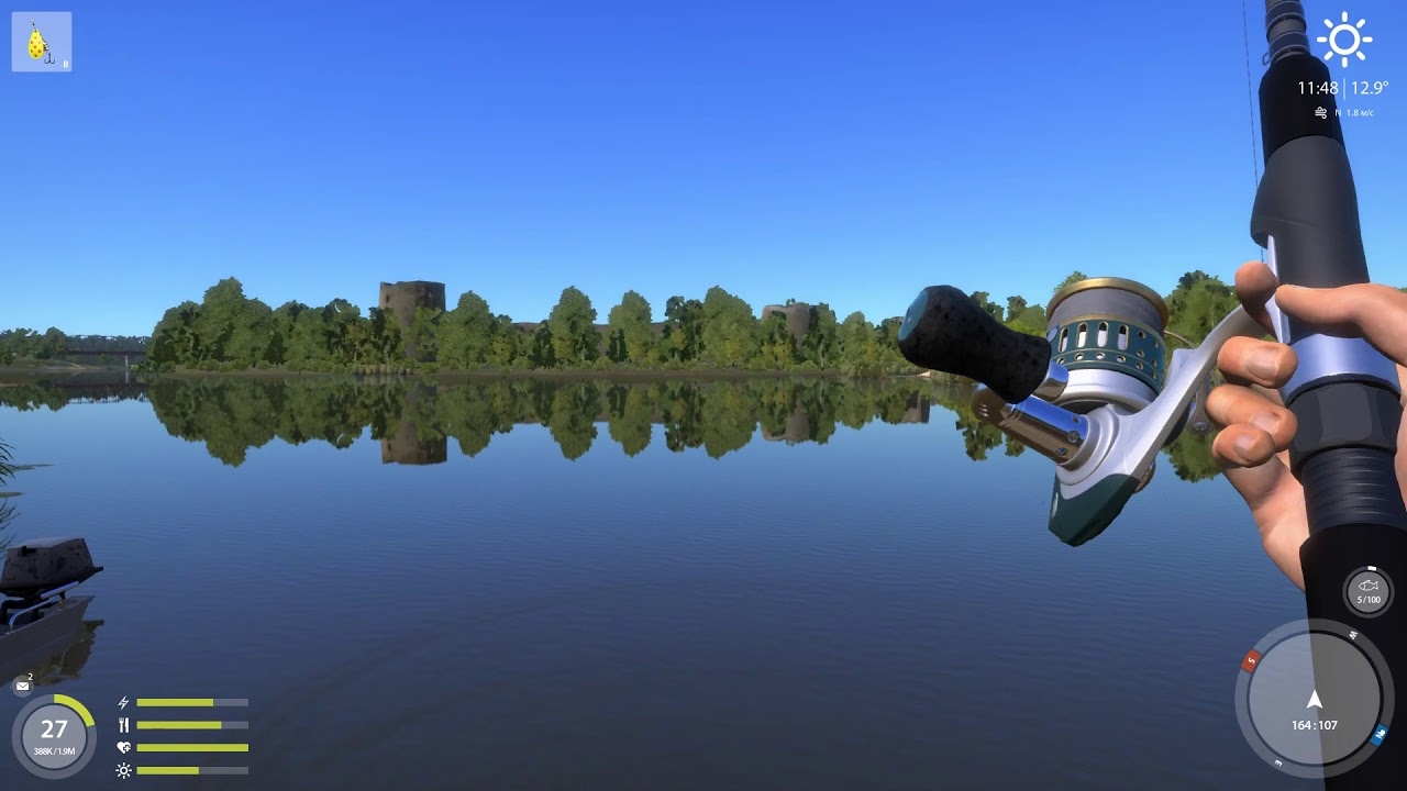 Русская рыбалка 4 — река Волхов — Желтая вертушка с причала