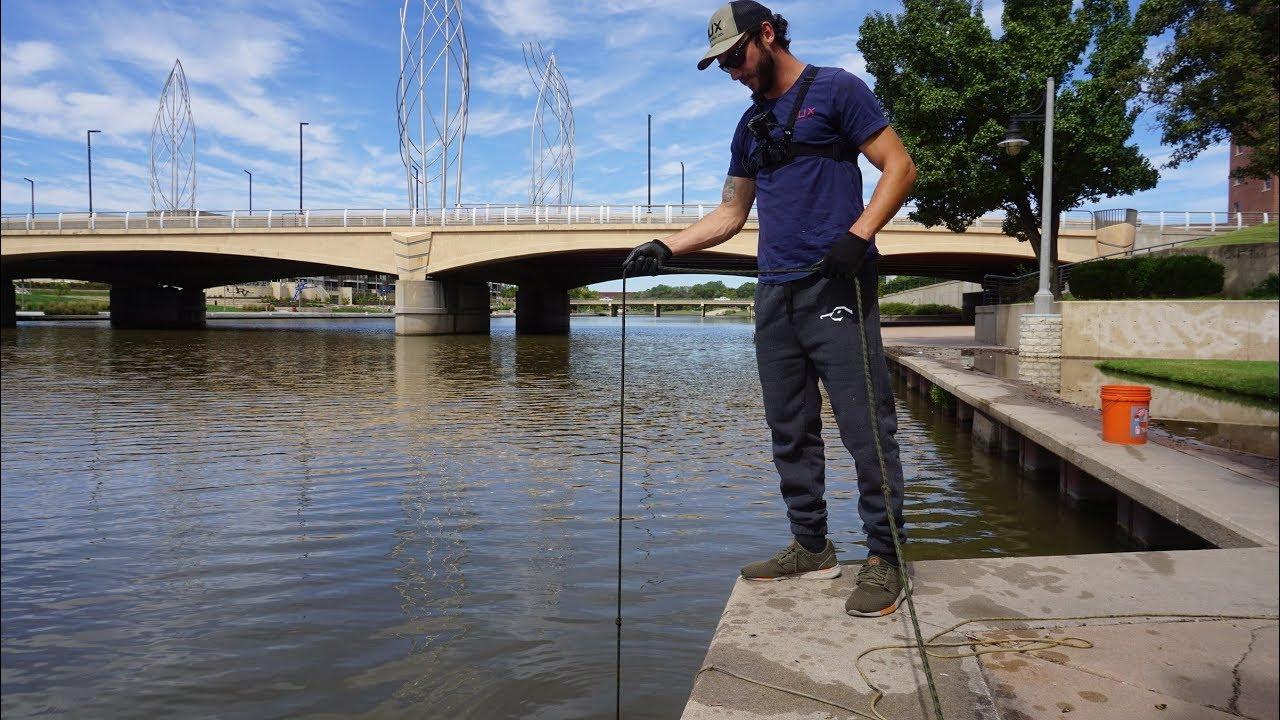 MAGNET FISHING UNDER BRIDGES FOR BIG FINDS!!